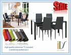 Dining Kitchen Furniture Set Modern Glass Top Table with chairs + placemat