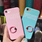 Cute Fashion Pink Ring Holder Kickstand Matte Case Cover for iPhone 6/6S/7 Plus