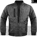 Mens MA1 Bomber Harrington Jacket Light Weight Quilted Spring Coat Black Navy