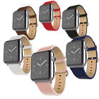Soft Real Leather Band Bracelet Strap W/Adapter For Apple Smart Watch 1 2 Series