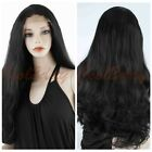 Women's Body Wave Heat Resistant Lace Front Wig Synthetic Wavy Black Hair Wigs