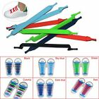 20pc Unisex Fashion Lazy No Tie Tieless Elastic Silicone Sneaker Shoe Laces