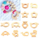Eco-friend Natural Wooden Animal Shape Baby Teether Teething Toy Shower Gift