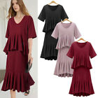 Women Short Sleeve Summer Dress Casual Party Evening Short Mini Dress Plus Size