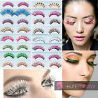 Fancy Dress Evening Eyelashes Extention Tiger Print Colourful Glue On Reuseable