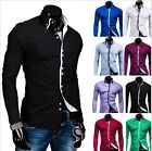 Hot New Men's Luxury Casual Stylish Slim Fit Long Sleeve Casual Dress Shirts Lot