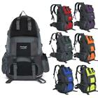 50L Backpack Climbing Hiking Bag Rucksack Camping Travel Waterproof Set Colors