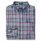 Gant Shirt - Gant Men's Madras Plaid Check Cotton Linen Shirt Persian Blue