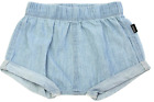 NEW BONDS CHAMBRAY SHORTS 03-06 MONTHS SUMMER BLUE DAILY PROTECTION CARE COTTON