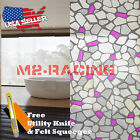 *Frosted Purple Brick Tile Glass Film Home Window Privacy Security Sticker 5039A