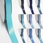 "3 Yards Double Sided 4"" /100mm Discount Satin Ribbon Blue s #352 to #374"