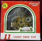 "Vintage 5"" - 11 Light Tree top Gold Tinsel Lighted Sterliing Light Co."