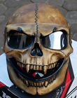 Motorcycle Helmet Skull Skeleton MONSTER Ghost Visor Full face Antique Brown
