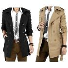 Summer Hot  Men's Fit Double Breasted Leisure Coat Long Jacket Overcoat Good