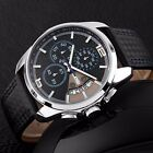 Military Waterproof Date Quartz Analog Army Men's Quartz Leather Wrist Watches
