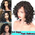 Fashion Short Synthetic Lace Front Wigs For Black Wome Curly Heat Resistant Hair