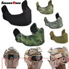 Airsoft Tactical Mask Protective Armour Helmet Military Half Face Mask Accessory