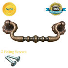 CAST IRON VINTAGE DRAWER COUNTRY PULL COOPER HANDLE SWAN NECK SWING HANDLE