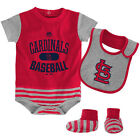 Infant St. Louis Cardinals Bodysuit Bib Bootie Set MLB Baseball Property Baby