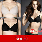 Berlei Barely There Bra Cotton Contour Underwire Nude Black Size FREE POSTAGE