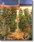 HUGE Monet Artist's Garden Vetheuil Stretched Canvas Giclee Art  Repro ALL SIZES