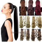 100% Real Natural Ponytail hair Piece Clip in on Pony tail Hair Extensions hg58