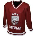 LATVIA NATIONAL TEAM ICE HOCKEY HOME SUPPORTERS JERSEY %100 ORIGINAL #3