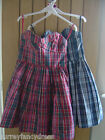Jack Wills Bleakley Strapless Dress Size 8 10 Red Blue NEW (tags)RRP £89 (Ref Z)