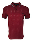 Fred Perry Polo T-Shirt - Rosewood - Twin Tipped - Square Print - M1570 D60