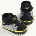 Newborn Baby Kids Boys Cute Cartoon First Walkers Batman Lace-Up Sneakers Shoes