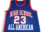 Lebron James #23 High School All American Men Basketball Jersey Blue Any Size