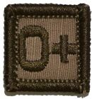 Blood Type - 1x1 Military/Morale Patch Hook Backing (All Blood Types) Army