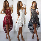 Fashion Women One-Piece Summer Lace Sleeveless Long Evening Party Cocktail Dress