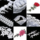 Flower Embroidered Lace Trim Venice Fabric Sewing Crafts Dress Applique Decor