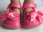 squeaky leather - Toddler Shoes - Squeaky Shoes - Pink with Dot Bows, Mary Jane, Up to Size 7