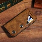 Unique Flip Leather Wallet Card Slots Magnetic Business Case Cover For iPhone