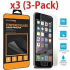 Premium Screen Protector Real Tempered Glass Film for iPhone SE 5 6s 7 Plus  <br/> MagicShieldz&reg; Glass - 3D Touch Compatible - 3-PACK