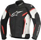 Alpinestars Mens Black/White/Red GP Plus R v2 Leather Motorcycle Riding Jacket