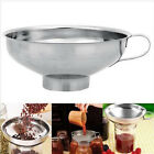 Stainless Steel Wide Mouth Canning Specialist Funnel Hopper Filter Kitchen Tool