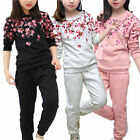 2pcs Long Sleeve Kids Girls Clothes T-shirt Tops Sweater + Pants Sports Outfits
