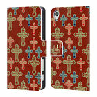 HEAD CASE DESIGNS CROSS PRINT LEATHER BOOK CASE FOR SONY XPERIA X PERFORMANCE