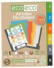 A5 INDEX FILE FOLDER PLASTIC DIVIDERS SUBJECT 6 PART DIVIDERS ecoeco RECYCLED