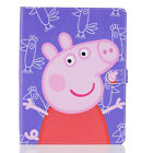 Peppa Pig Characters Case for iPad 234/Air2/Mini Tablets PU Leather Stand Cover