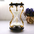 Luxury Plating Metal Sandglass Hourglass Timer Home Decor Table Ornament Gift