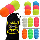 3x SMOOTHIE (UV) Professional LEATHER THUD Juggling Ball - Set of 3 Balls + Bag