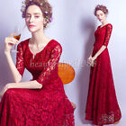 NEW Long Evening Formal Party Cocktail Bridesmaid Prom Gown Wedding Dress#D162
