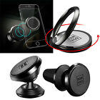 Car Magnetic Phone Holder with Finger Ring Stand Holder for iPhone 7 Samsung S8