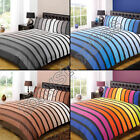 Soho Printed Duvet Cover and Pillowcase Set with Bright Stripes - 4 colors
