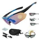 RockBros Polarized Cycling Glasses Eyewear Goggles Fishing Sunglasses 5 Lens