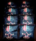USA PATRIOTIC AMERICAN FLAG SKULL HEAD 8 ACA Regulation Cornhole Bean Bags B310